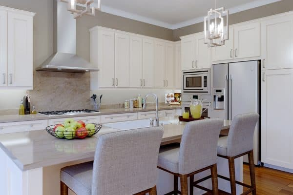 Open Kitchen Design with Large Island